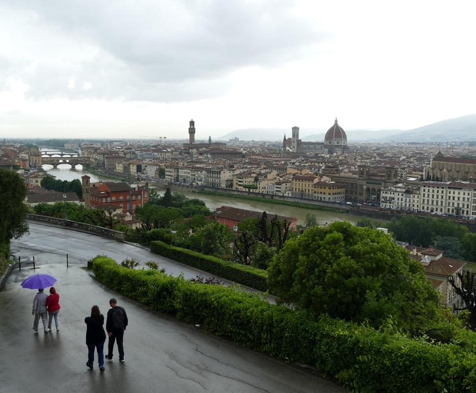 The view of Firenze from Piazza Michelangelo.