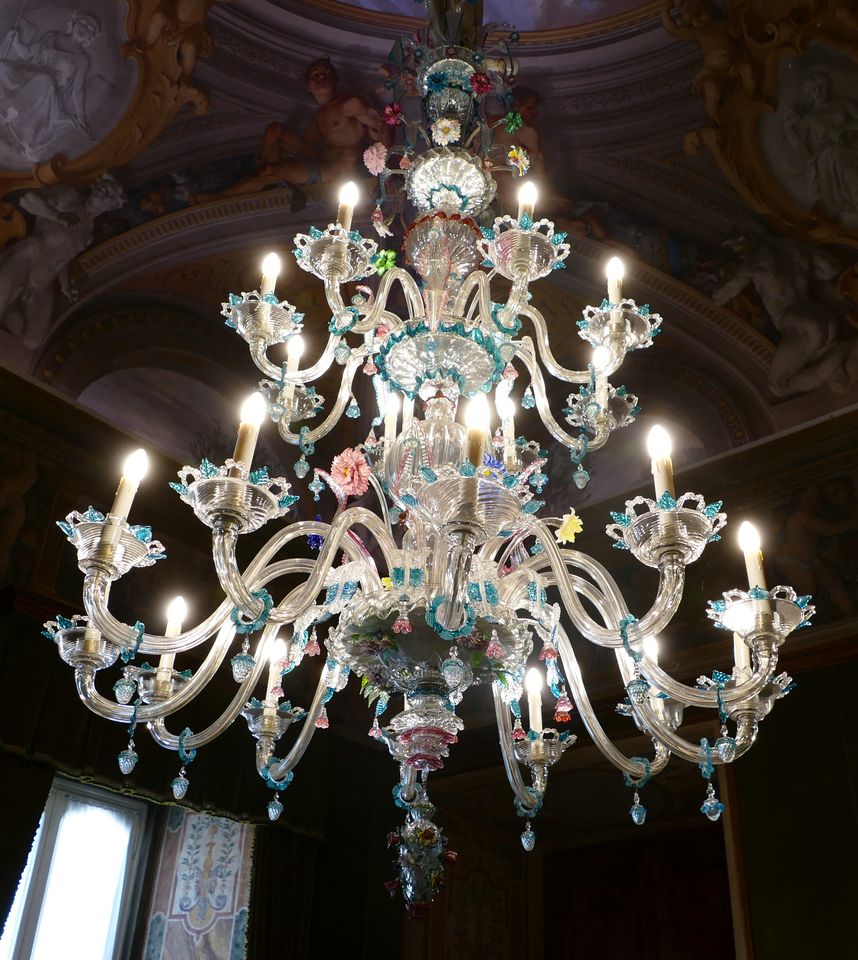 a very ornate chandelier