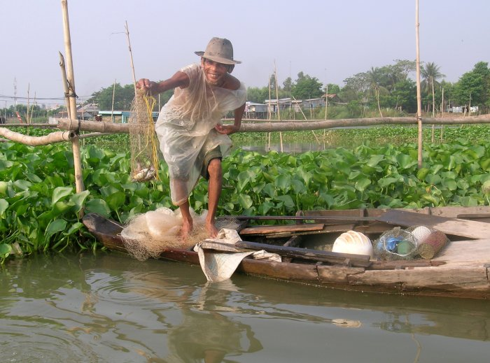 Fishing in the Mekong Delta
