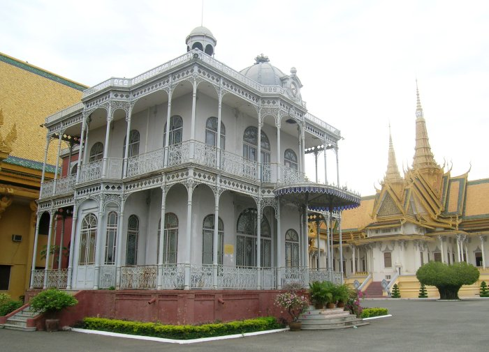 Iron house on the grounds of the Cambodian Royal Palace