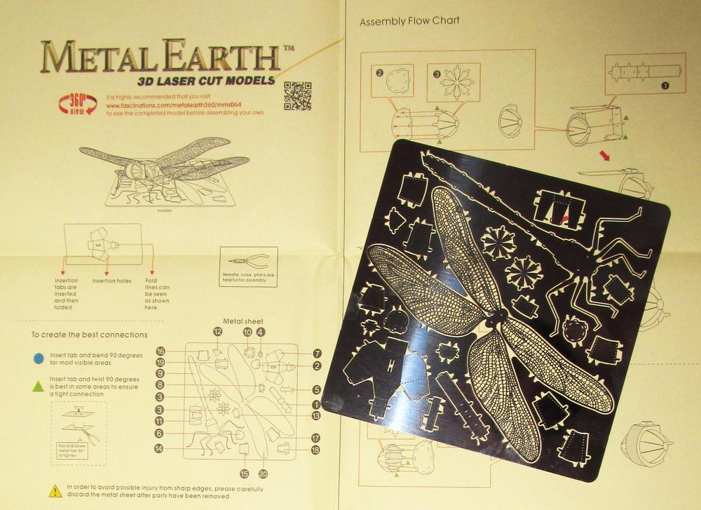 What you get in a MetalEarth Dragonfly package